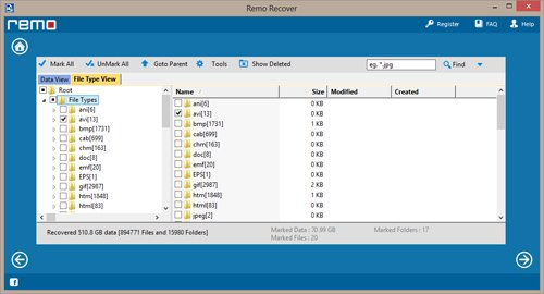 Recover PPTX Files From Emptied Recycle Bin - Preview files screenshot