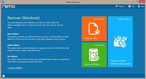 Recycle Bin recovery software screenshot