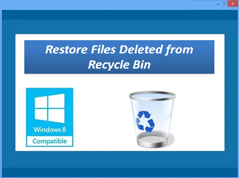 Tool to restore deleted data from Recycle Bin